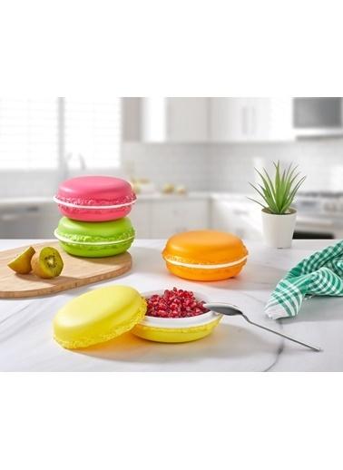 Bayev 4`lü 4 Renk Kapaklı Macaron Kase Seti 400 ml - New Renkli